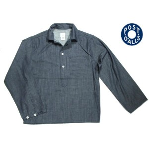 【期間限定30%OFF!】POST OVERALLS(ポストオーバーオールズ)/#1204R2 7oz CONE DENIM CRAFT MASTER1 SHIRTS/indigo