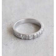 (54152309197] IL BISONTE(イルビゾンテ) 真鍮LOGO RING/ロゴ入りリング/指輪 size:2 color:11.シルバー