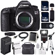 Canon EOS 5DS R DSLR Camera (International Model No Warranty) 0582C002 + LP-E6 バッテリー + External Rapid Charger + 32GB Card + 16GB Card バ...