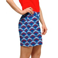LoudMouth Ladies Lounge Lizard Blue Skorts (#SK)【ゴルフ レディース>スコート】