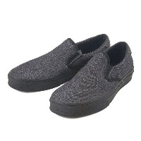 【VANS】 ヴァンズ SLIP-ON 59 スリッポン 59 VN000SFOI0E 15HO (DNM Canvas Leather) BLK