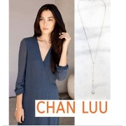 ★CHAN LUU★Grey Pearl diamond Drop Necklace ☆ネックレス Chan Luu(チャン ルー) バイマ BUYMA