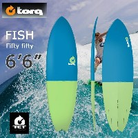 torq(トルク)6'6 Fish Fifty Fifty blue + green tailエポキシ製ショートボード フィン付き!