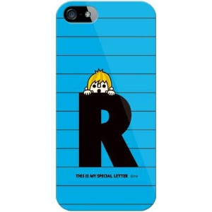 【送料無料】 letter&boy ブルー R (クリア) design by PansonWorks / for iPhone SE/5s/docomo 【SECOND SKIN】【ハードケース...