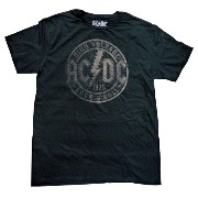 【AC/DC】Tシャツ 『HIGH VOLTAGE 1975 ROCK&ROLL(BK)』海外バンド・ロック・rock・Tシャツ
