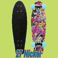 PENNY SKATEBOARDS/ペニースケートボード TV VANDAL WEIRD REALITY COLLECTION NICKEL/ニッケル 27 ミニクルーザースケボー 送料無料 ミニ...