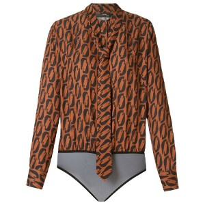 Andrea Marques - tie detail printed body - women - ビスコース - 38