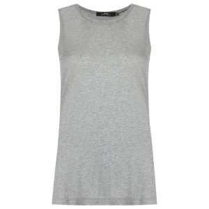 Andrea Marques - side slit tank top - women - コットン - 40