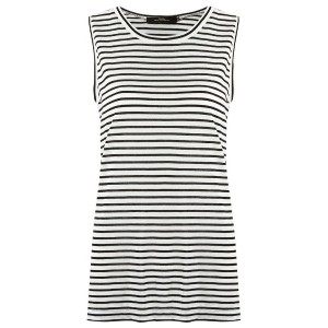 Andrea Marques - striped tank top - women - コットン - 44
