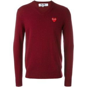 Comme Des Garçons Play - Red Play Vネックセーター - men - ウール - M