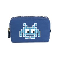 Anya Hindmarch - Space Invader 化粧ポーチ - women - ナイロン - ワンサイズ
