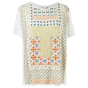 Isabela Capeto print embroidered blouse