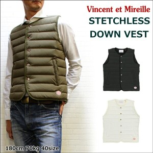 【SALE】ヴィンセント・ミレー ステッチレスダウンベスト (Vincent et Mireille STETCHLESS DOWNVEST)