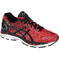 (取寄)アシックス メンズ Gel-Nimbus 18 ランニングシューズ Asics Men's Gel-Nimbus 18 Running Shoe Racing Red/Black/Silver