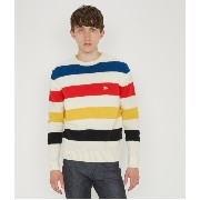 LAMBSWOOL STRIPES PULLOVER