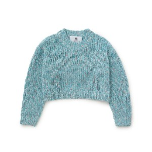 【Bonjour Girl】Croped Knit