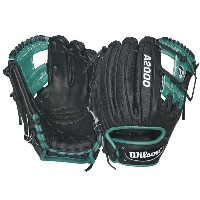 Wilson A2000 RC22 SuperSkin Robinson Cano Baseball Glove, Black/Mariner Green/White, Right Hand Throw [並行輸入品]