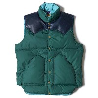 ★SALE 10%OFF★ WAREHOUSE ウエアハウス × Rocky Mountain Feather Bed ロッキー マウンテン WH DOWN VEST ナイロン ダウンベス...