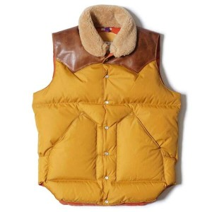 WAREHOUSE ウエアハウス × Rocky Mountain Feather Bed ロッキー マウンテン WH CHRISTY DOWN VEST クリスティ ダウンベスト コラボレーション...