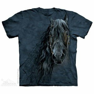 The Mountain Tシャツ Forever Friesian (ウマ 馬 キッズ 子供用 女児 男児) S-2L 【輸入品】 半袖 アニマル マウンテン 動物