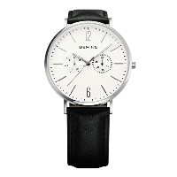 BERING Mens Calf Leather&Nylon(14240-404 ホワイト×シルバー)