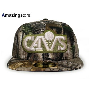 NEW ERA CLEVELAND CAVALIERS 【NBA TEAM-BASIC/REALTREE CAMO】 ニューエラ クリーブランド キャバリアーズ 59FIFTY FITTED CAP...