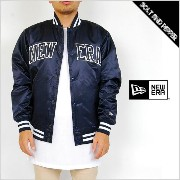 NEWERA APPAREL NYLON VARSITY JACKET NEW ERA STADIUM JACKET NAVY BLACK ニューエラ アパレル ナイロン バーシティ ジャケット...