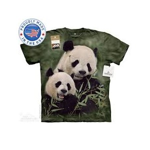 The Mountain Tシャツ The Smithsonian Mama And Baby Panda (The Smithsonian パンダ メンズ レディース 男女兼用) S-L 【輸入品...