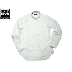 【期間限定30%OFF!】IKE BEHAR (アイクベーハー)/#MF1306LB FULL OPEN L/S B.D. OXFORD SHIRTS/white