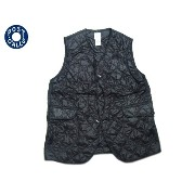 【期間限定20%OFF!】POST OVERALLS(ポストオーバーオールズ)/#1512 ROYAL TRAVELER NYLON TAFFETA QUILTING VEST/black