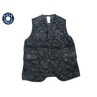 【期間限定30%OFF!】POST OVERALLS(ポストオーバーオールズ)/#1512 ROYAL TRAVELER NYLON TAFFETA QUILTING VEST/black