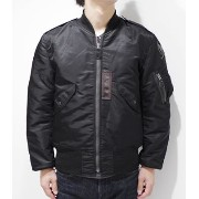 BUZZ RICKSON'S WILLIAM GIBSON COLLECTION JACKET,FLYING,LIGHT MONO STENCIL『BLACK L-2B REGULAR』【ミリタリー...