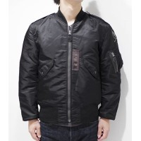 BUZZ RICKSON'S WILLIAM GIBSON COLLECTION JACKET,FLYING,LIGHT MONO STENCIL『BLACK L-2B REGULAR』【ミリタリー・フライト】BR13127(Flight Jacket)
