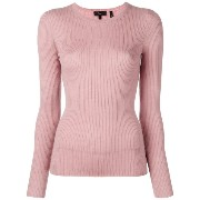 Theory round neck fine knit jumper