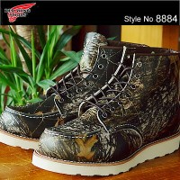 """RED WING レッドウィング 8884 CLASSIC WORK 6""""MOC-TOE クラシックワーク 6インチ モックトゥ Camouflage Mossy Oak Break-Up..."""