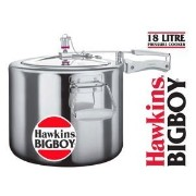 Hawkins Bigboy Aluminum 18 Litre Pressure Cooker with Separators and Grid to Cook Different Foods At the Same Time by Hawkins [並行輸入品]