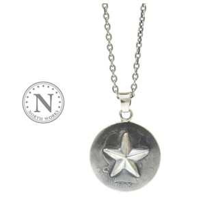 NORTH WORKS ノースワークス N-511 25 cent One Star Necklace Silver シルバー スター ネックレス コイン
