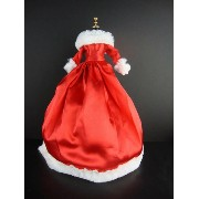 バービー 着せ替え用ドレス/服 R6 (The Official 2012 Holiday Gown Traditonal Red Satin and White Fur Trim Stunning...