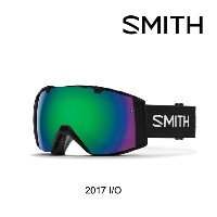 2017 SMITH スミス ゴーグル GOGGLE I/O BLACK/GREEN SOL-X MIRROR+RED SENSOR MIRROR
