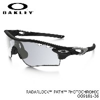 【OAKLEY】(オークリー) サングラス OO9181-36 RADARLOCK PATH PHOTOCHROMIC Polished Black Clear Black Iridium...