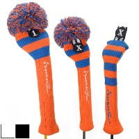 RocketTour Orange Base Rugby Stripe Pom Pom Headcover【ゴルフ アクセサリー>ヘッドカバー】