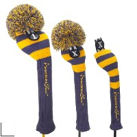 RocketTour Purple Base Rugby Stripe Pom Pom Headcover【ゴルフ アクセサリー>ヘッドカバー】