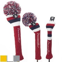 RocketTour Red Base Rugby Stripe Pom Pom Headcover【ゴルフ アクセサリー>ヘッドカバー】