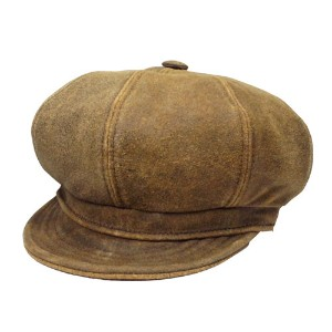 New York Hat ニューヨークハット レザー キャスケット 9245 ANTIQUE LEATHER SPITFIRE アンティークレザー スピットファイア Brown