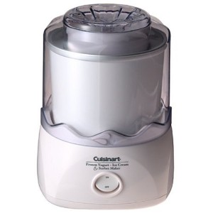 Cuisinart ICE-20 Automatic 1-1/2-Quart Ice Cream Maker, White クイジナートアイスクリームメーカー