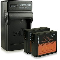 バンドル - Charger + 2x バッテリー DMW-BLG10 DMW-BLG10E with Infochip ・ 100% compatible with Panasonic Lumix...
