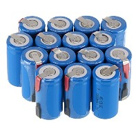 WindMaxR US SELLER 15 PCS 1.2V 1800mAh Ni-Cd NiCd Rechargeable バッテリー Batteries サブ C SC with Tabs ...