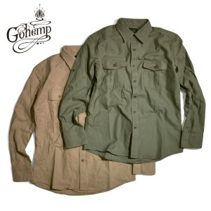 GO HEMP(ゴーヘンプ gohemp)PEACE FULL SHIRTS / H/C BACK SATIN SULFIDE DYE / トップス / シャツ