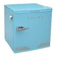 イグルー レトロ コンパクト 冷蔵庫 45L Blue Igloo 1.6 Cu Ft Retro Compact Refrigerator with Side Bottle Opener