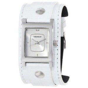 ベスタル 時計 レディース 腕時計 Vestal Women's EA012 Electra Pearl and Silver Leather Watch